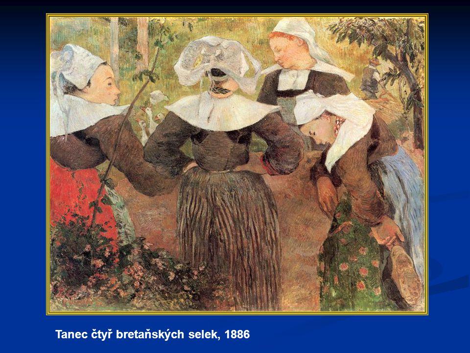 1893–1897 v roce 1893 se vrací do Francie, po návratu uspořádal prodejní výstavu svých děl v roce 1893 se vrací do Francie, po návratu uspořádal prodejní výstavu svých děl výstava však nebyla příliš úspěšná výstava však nebyla příliš úspěšná Gauguin je zklamaný, odjíždí do Bretaně Gauguin je zklamaný, odjíždí do Bretaně připlete se zde do pouliční rvačky, při které utrpí těžkou zlomeninu nohy připlete se zde do pouliční rvačky, při které utrpí těžkou zlomeninu nohy rozhodne se odjet zpět na Tahiti a nikdy se již do Francie nevrátit rozhodne se odjet zpět na Tahiti a nikdy se již do Francie nevrátit