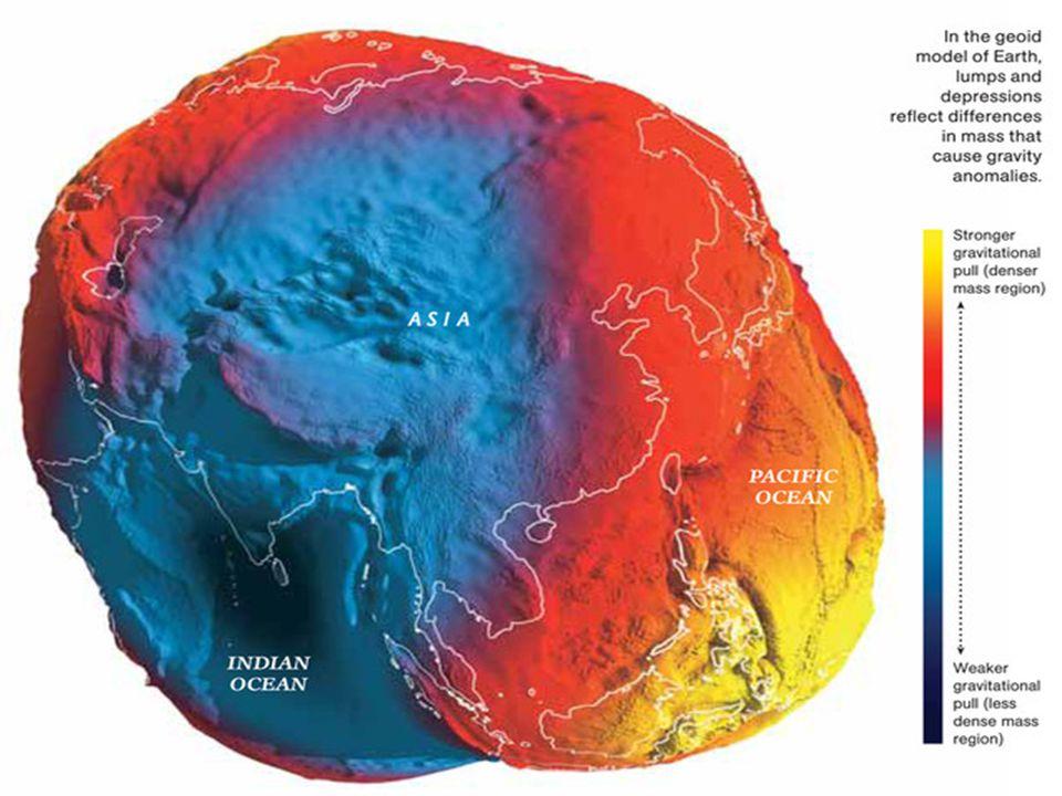 Kvazigeoid  vypočtený geometrickými metodami z astronomických, geodetických a gravimetrických veličin  nebere v úvahu nerovnoměrné rozložení hmoty na Zemi (rozdíl od geoidu), je možné ho určit bez znalosti hustotního rozložení v zemské kůře  na povrchu oceánů totožný s geoidem (několik cm)  na pevnině, zvláště kde je vyšší pohoří, se liší (až 2m)  jsou k němu vztaženy tzv.