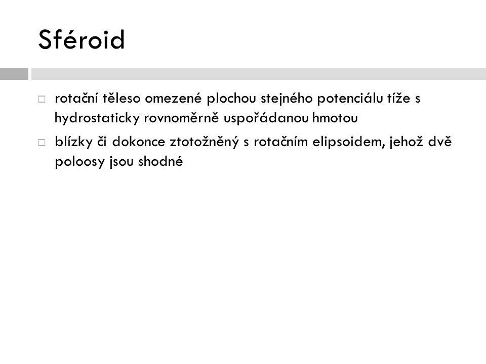 Sféroid  rotační těleso omezené plochou stejného potenciálu tíže s hydrostaticky rovnoměrně uspořádanou hmotou  blízky či dokonce ztotožněný s rotač