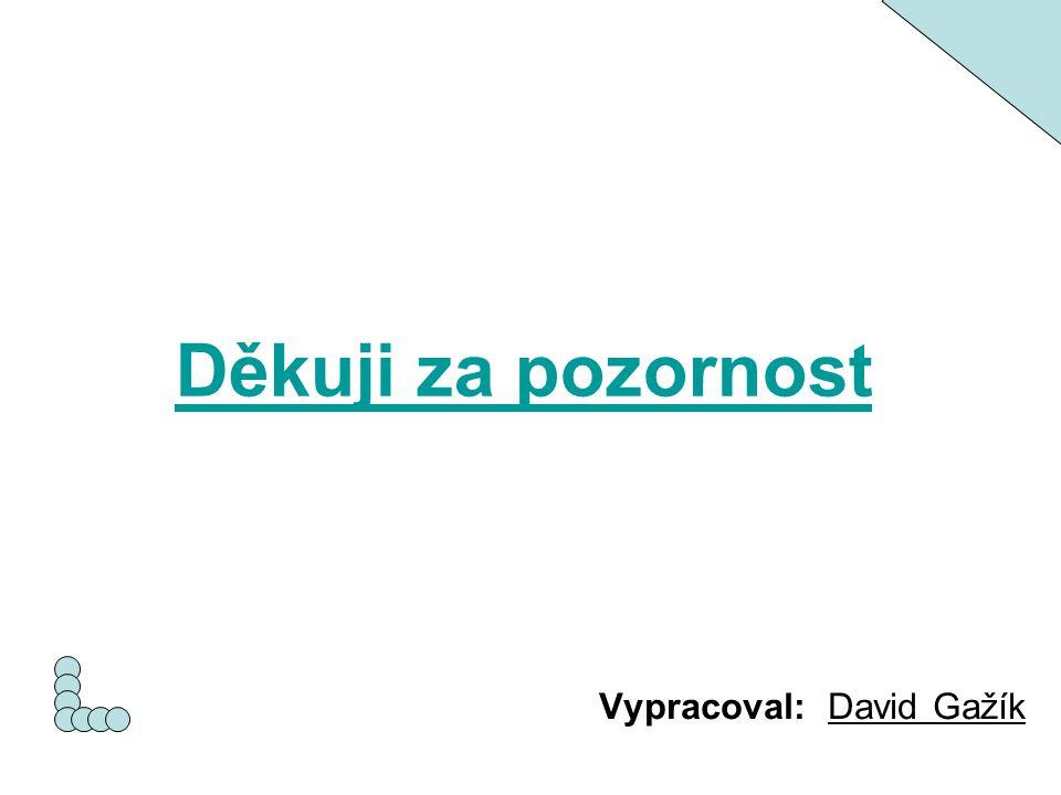 Děkuji za pozornost Vypracoval: David Gažík