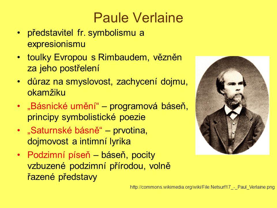 Paule Verlaine představitel fr.