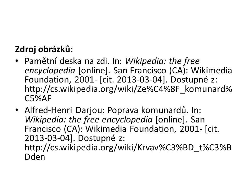 Zdroj obrázků: Pamětní deska na zdi. In: Wikipedia: the free encyclopedia [online].