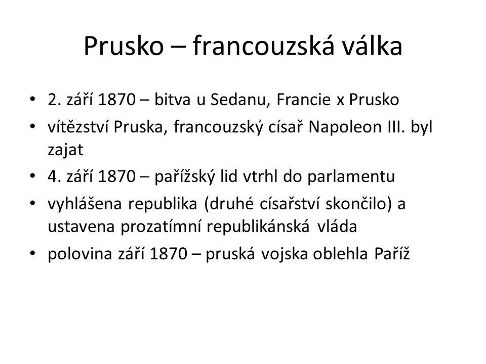 Prusko – francouzská válka 2.