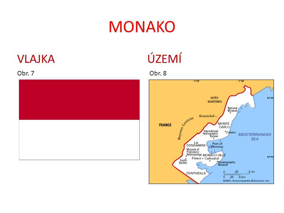 MONAKO VLAJKA Obr. 7 ÚZEMÍ Obr. 8