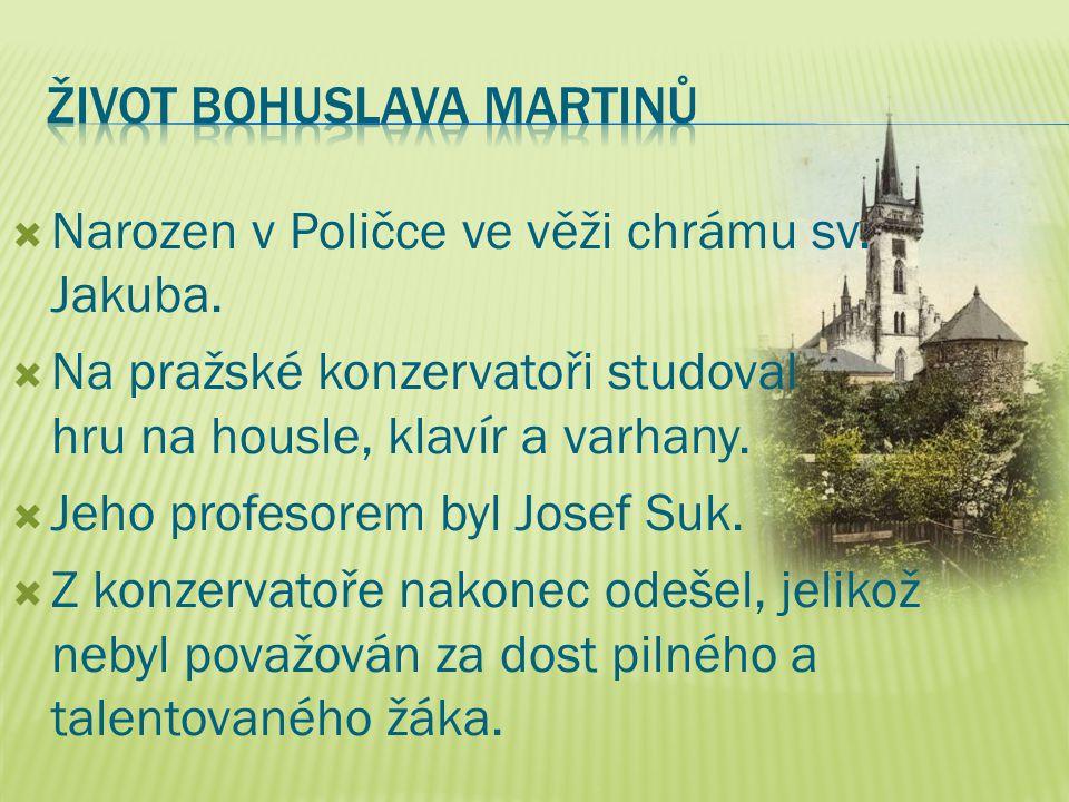  Narozen v Poličce ve věži chrámu sv. Jakuba.  Na pražské konzervatoři studoval hru na housle, klavír a varhany.  Jeho profesorem byl Josef Suk. 