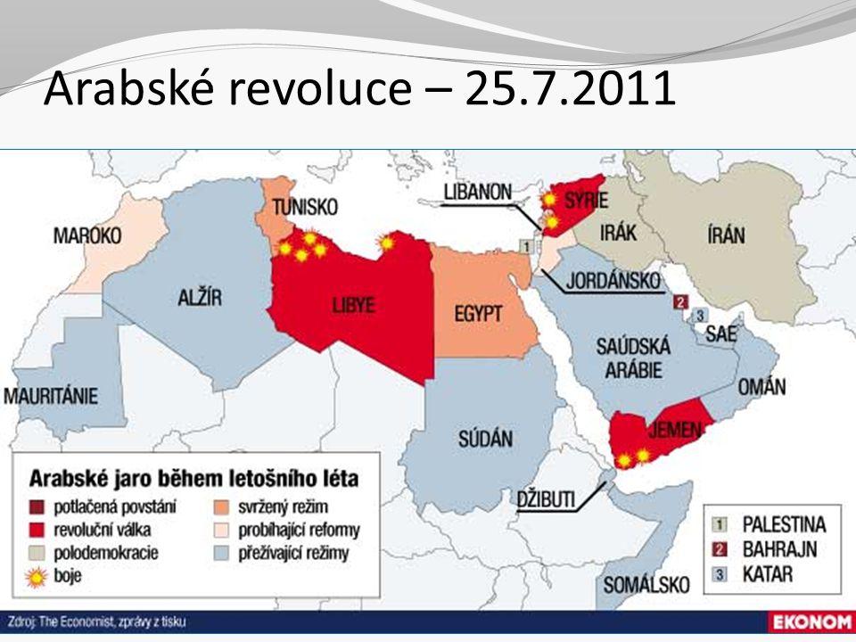 Arabské revoluce – 25.7.2011 2 Sociální politika III. Jabok, ETF, 2010. Michael Martinek6