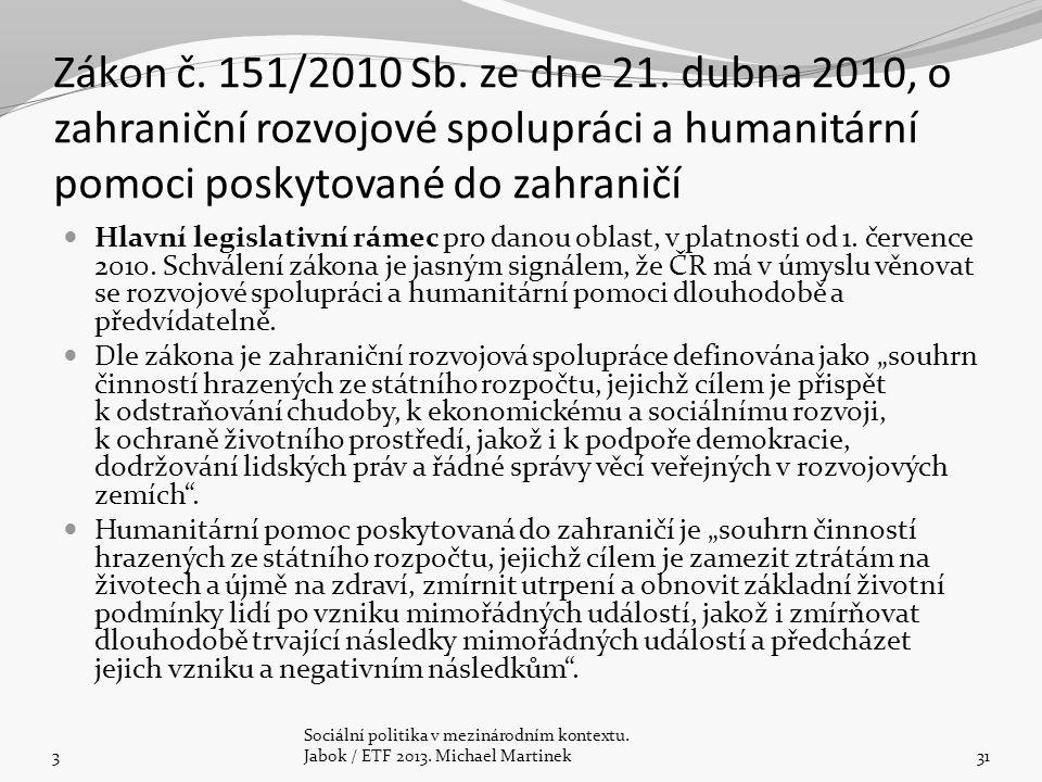 Zákon č. 151/2010 Sb. ze dne 21.