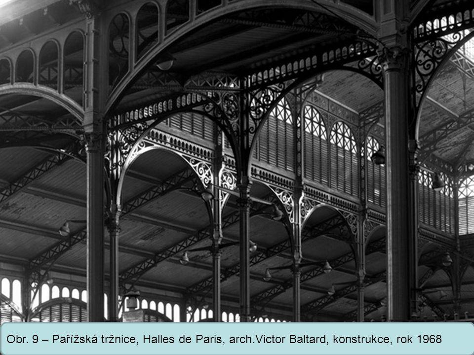 Střední škola Oselce Obr. 9 – Pařížská tržnice, Halles de Paris, arch.Victor Baltard, konstrukce, rok 1968