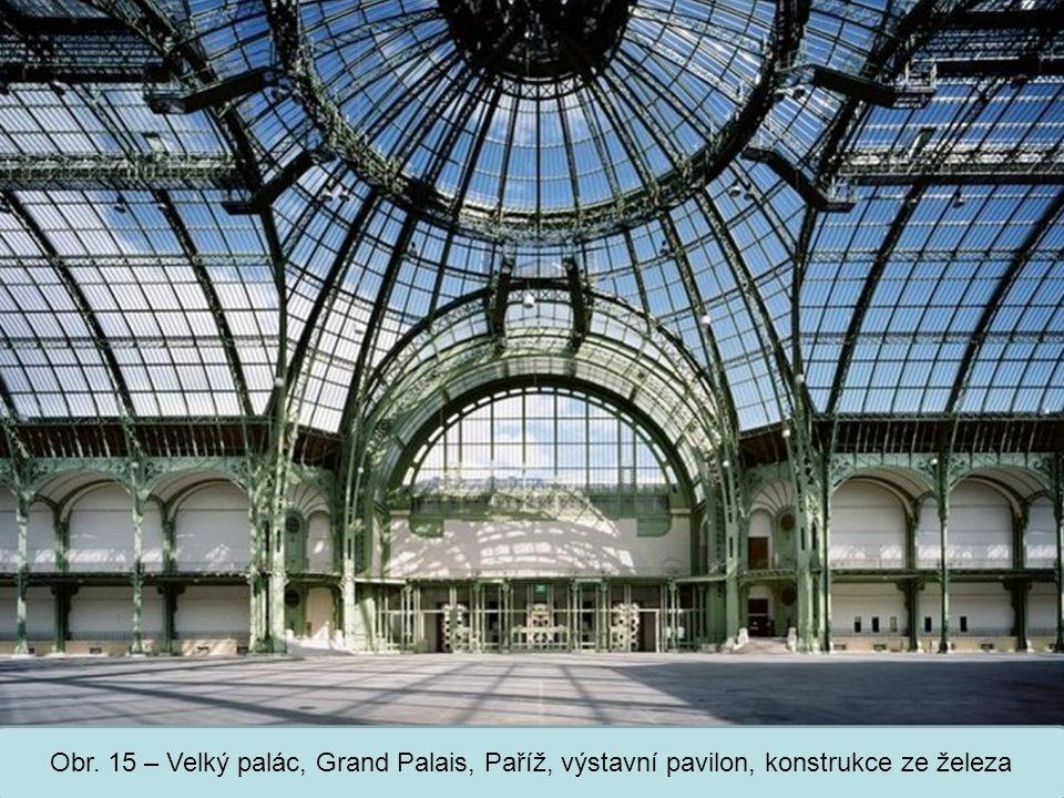 Střední škola Oselce Obr. 15 – Velký palác, Grand Palais, Paříž, výstavní pavilon, konstrukce ze železa