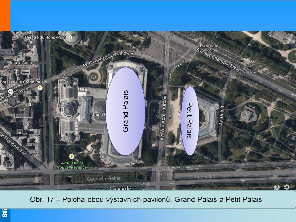 Střední škola Oselce Obr. 17 – Poloha obou výstavních pavilonů, Grand Palais a Petit Palais Grand Palais Petit Palais