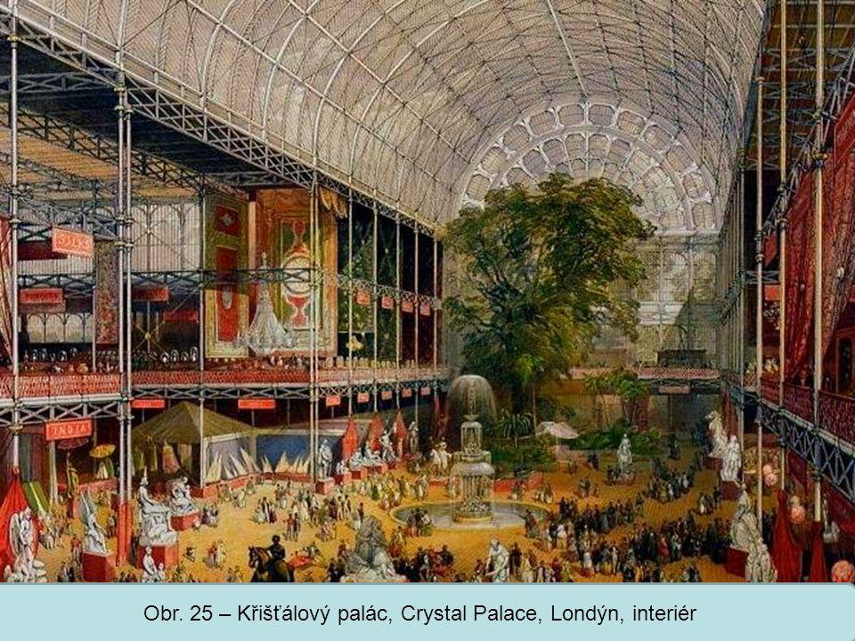 Střední škola Oselce Obr. 25 – Křišťálový palác, Crystal Palace, Londýn, interiér