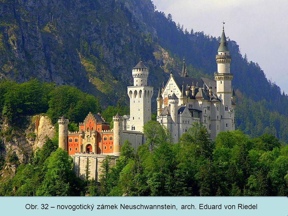 Střední škola Oselce Obr. 32 – novogotický zámek Neuschwannstein, arch. Eduard von Riedel