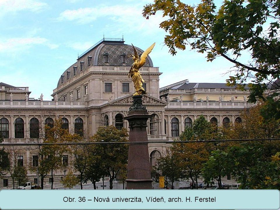 Střední škola Oselce Obr. 36 – Nová univerzita, Vídeň, arch. H. Ferstel