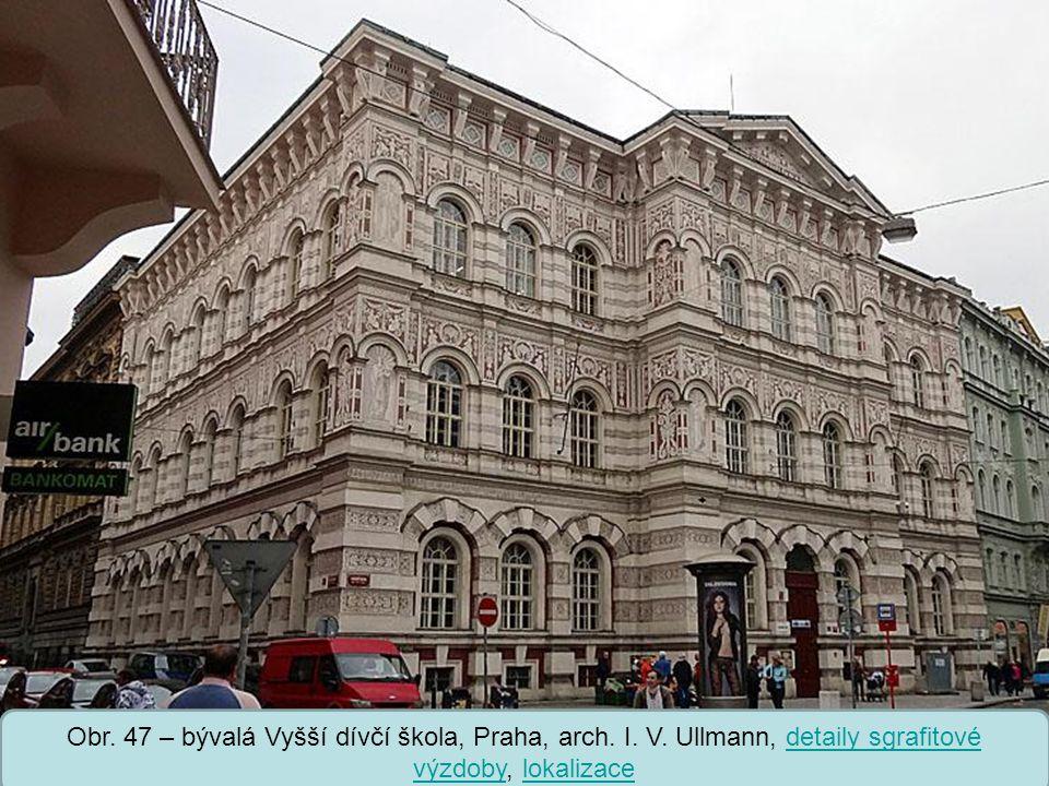 Střední škola Oselce Obr.47 – bývalá Vyšší dívčí škola, Praha, arch.