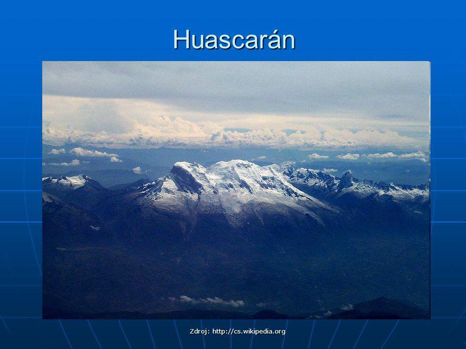 Huascarán Zdroj: http://cs.wikipedia.org