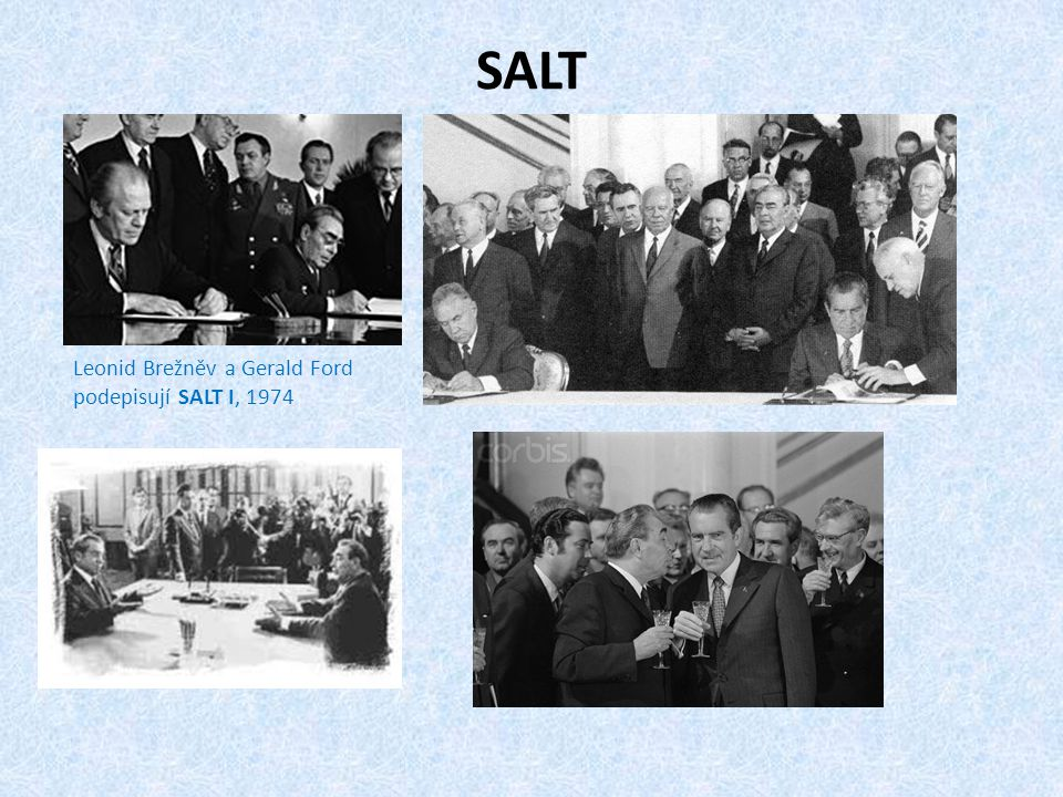 SALT Leonid Brežněv a Gerald Ford podepisují SALT I, 1974