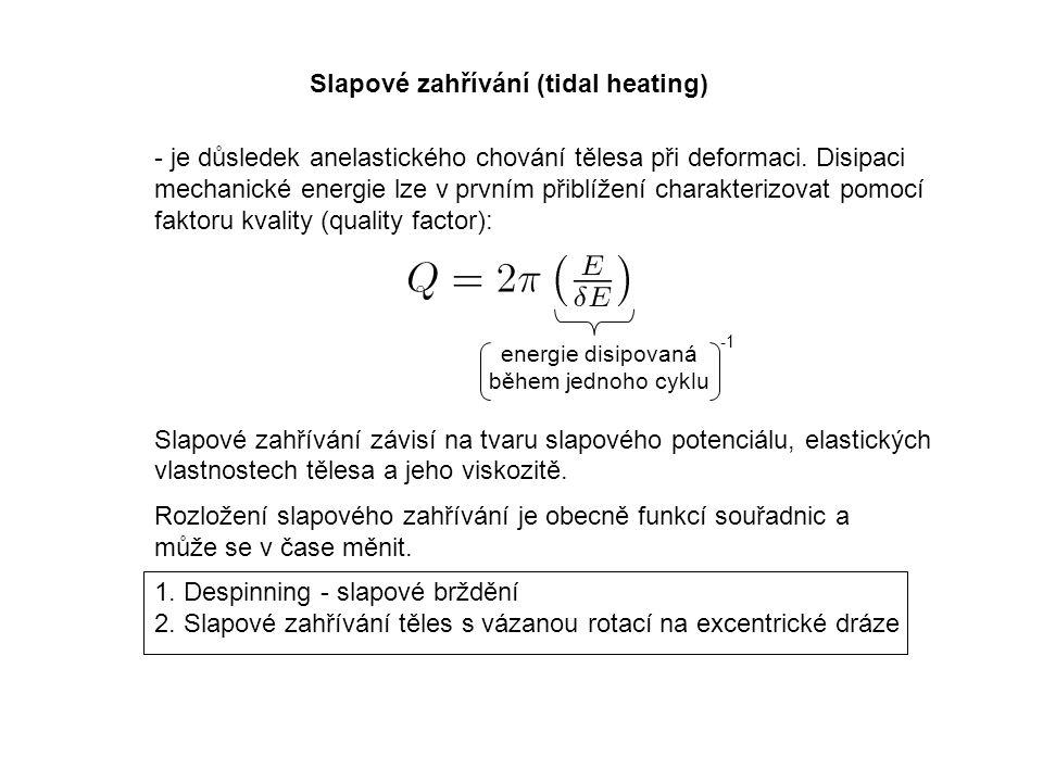 Slapové zahřívání (tidal heating) - je důsledek anelastického chování tělesa při deformaci.