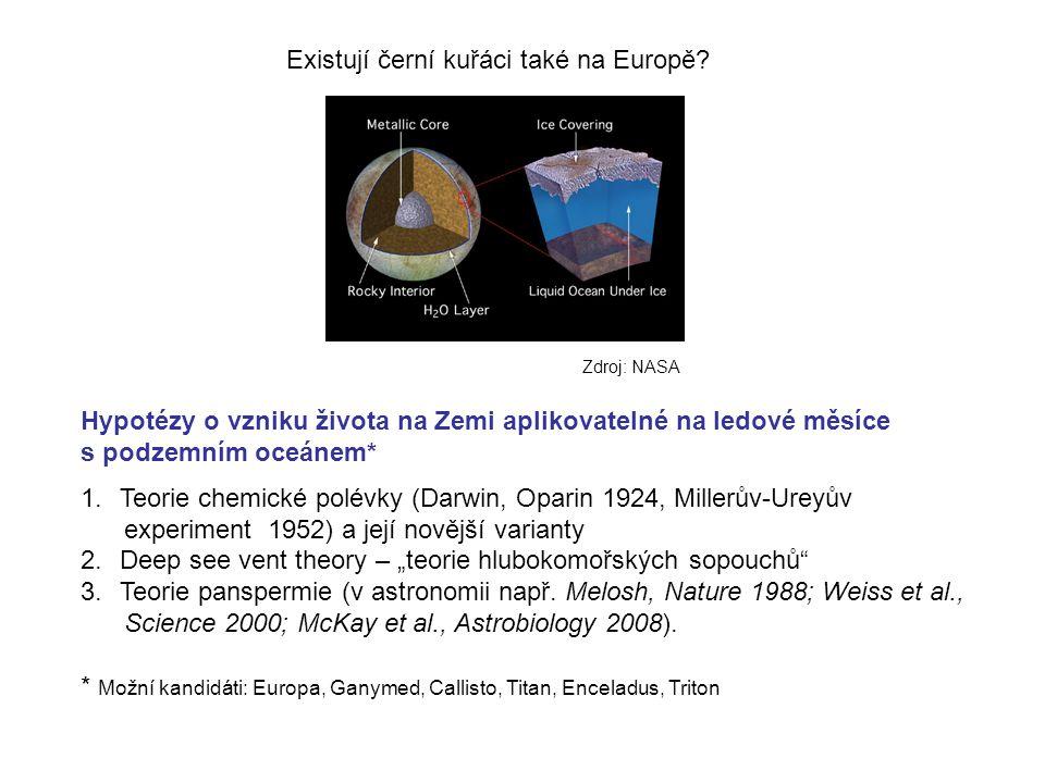 Hussmann et al., Treatise on Geophysics, vol.10 Velké měsíce Jupiteru a Saturnu, na kterých může existovat podpovrchový oceán vysokotlaký led kontakt voda-silikáty ?