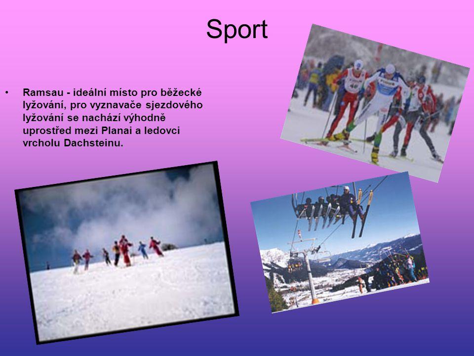 Sport Ramsau - ideální místo pro běžecké lyžování, pro vyznavače sjezdového lyžování se nachází výhodně uprostřed mezi Planai a ledovci vrcholu Dachst