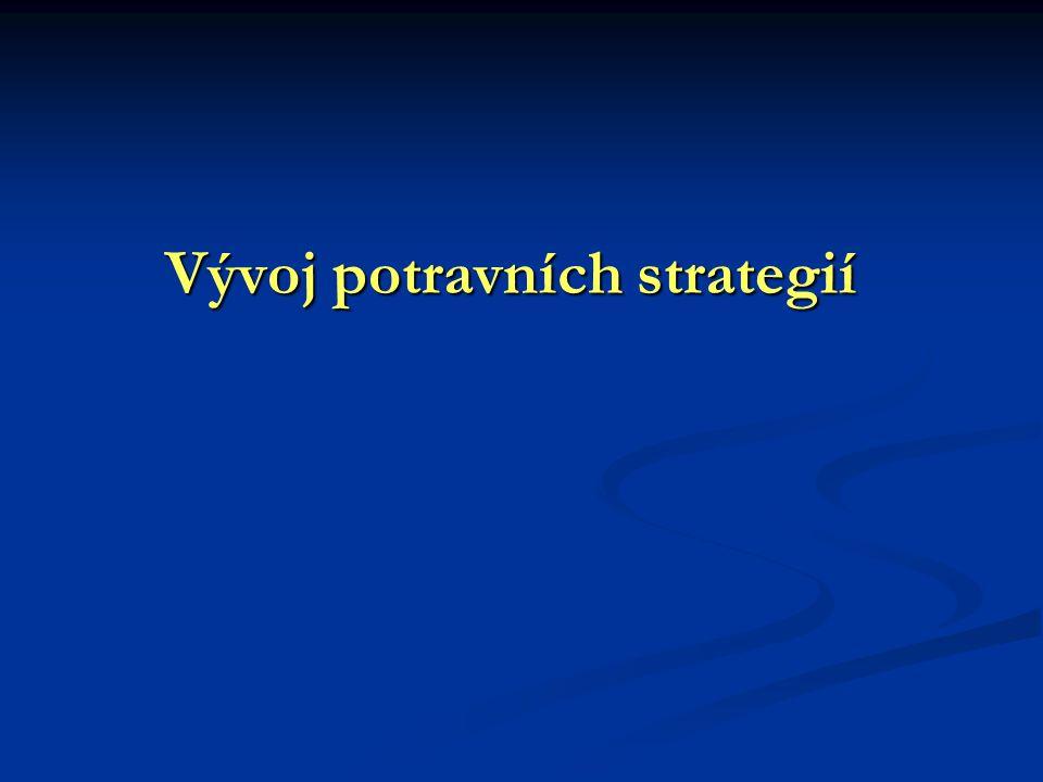 Vývoj potravních strategií