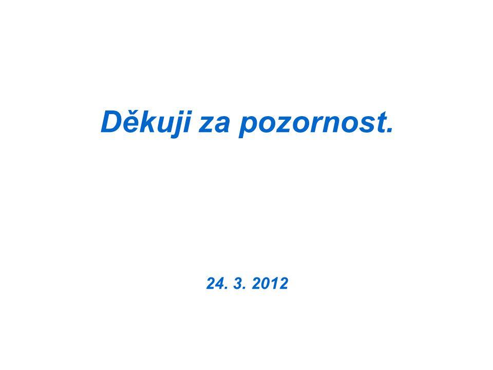 Děkuji za pozornost. 24. 3. 2012