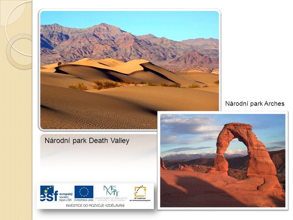 Národní park Arches Národní park Death Valley