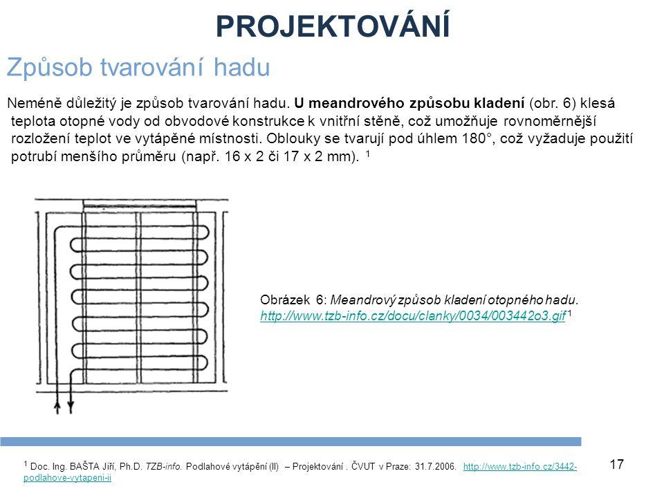 PROJEKTOVÁNÍ 17 1 Doc. Ing. BAŠTA Jiří, Ph.D. TZB-info. Podlahové vytápění (II) – Projektování. ČVUT v Praze: 31.7.2006. http://www.tzb-info.cz/3442-