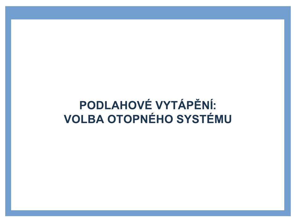 SYSTÉM PODLAHOVÉHO VYTÁPĚNÍ 1.2.3 33 1 Wolf.