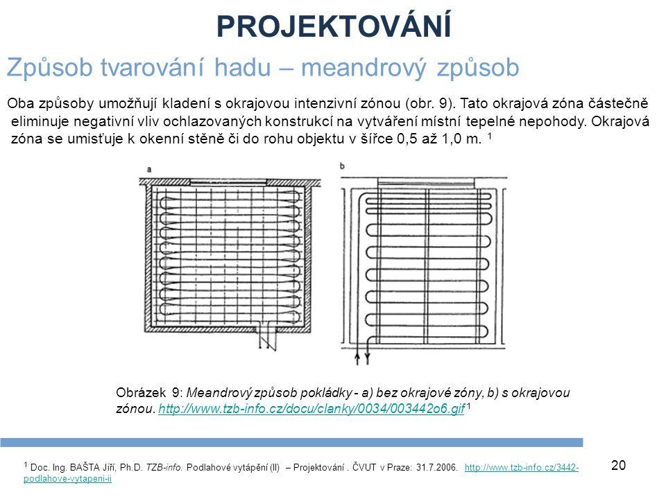PROJEKTOVÁNÍ 20 1 Doc. Ing. BAŠTA Jiří, Ph.D. TZB-info. Podlahové vytápění (II) – Projektování. ČVUT v Praze: 31.7.2006. http://www.tzb-info.cz/3442-