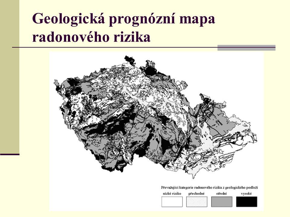 Geologická prognózní mapa radonového rizika
