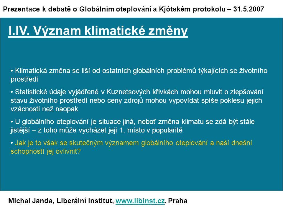 Michal Janda, Liberální institut, www.libinst.cz, Prahawww.libinst.cz I.IV.