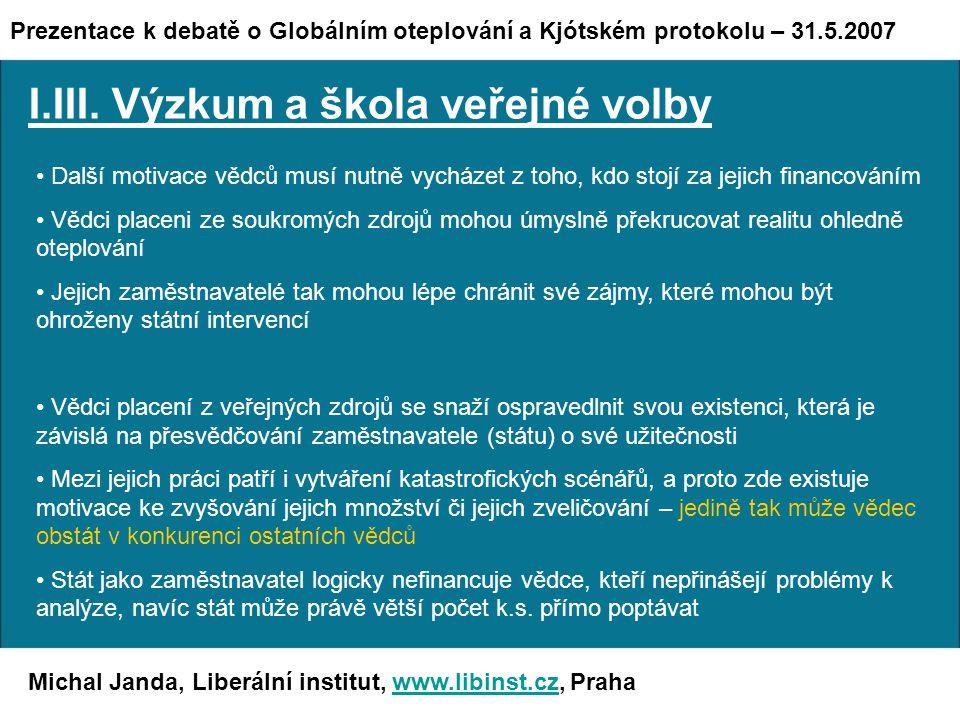 Michal Janda, Liberální institut, www.libinst.cz, Prahawww.libinst.cz I.III.