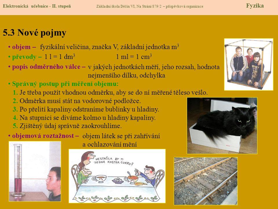 5.4 Výklad nového učiva Elektronická učebnice - II.