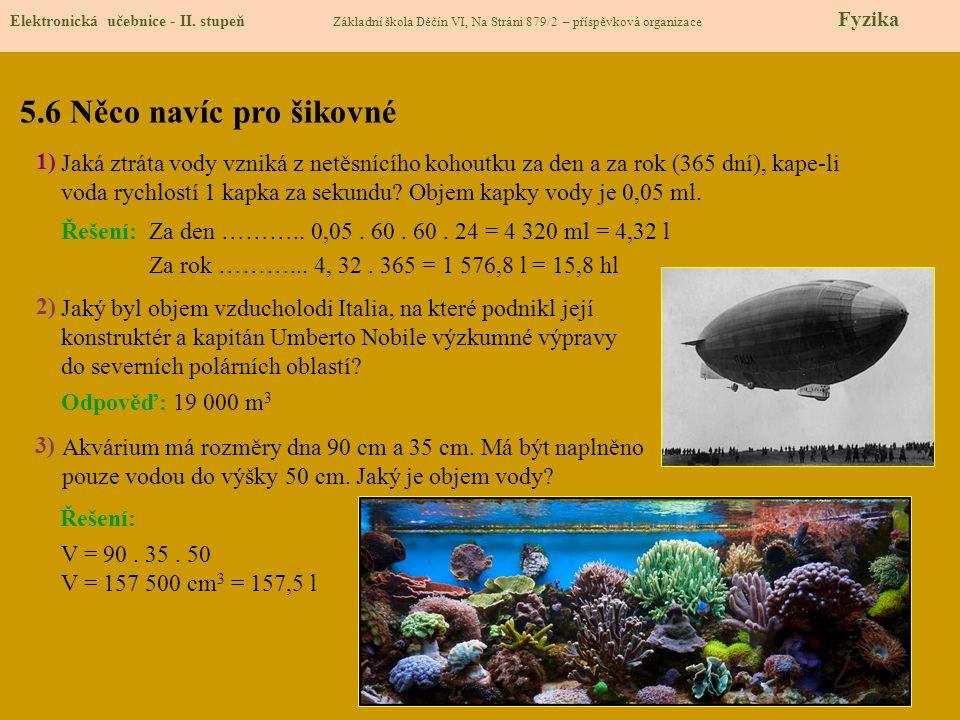 5.7 CLIL – The volume of a body Elektronická učebnice - II.