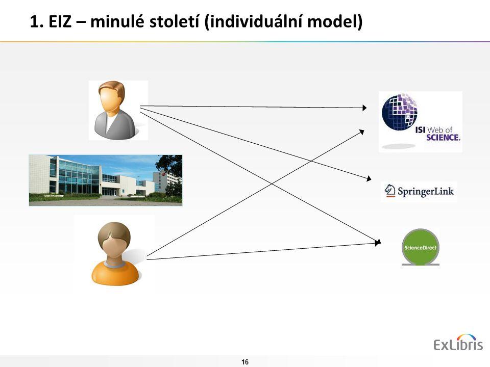16 1. EIZ – minulé století (individuální model)