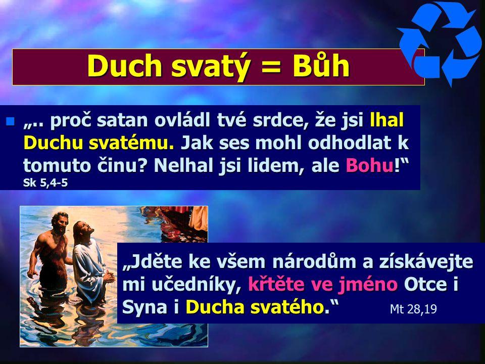 """Není neosobní síla, vliv, energie, Boží sluha Kdo je Duch svatý? Vlastnosti Ducha sv.: 1/ MLUVÍ - """"...řekl Duch sv."""" Sk 13,21/ MLUVÍ - """"...řekl Duch s"""