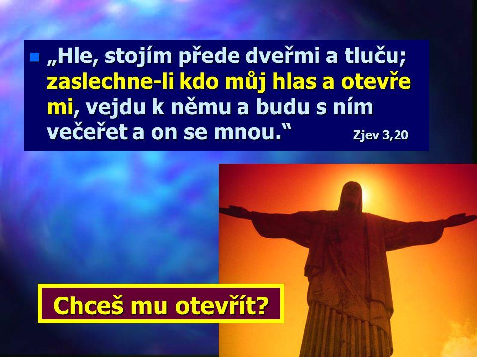 """Poslání Ducha sv. č. 5 n """"Proto, jak říká Duch svatý: 'Jestliže dnes uslyšíte jeho hlas, nezatvrzujte svá srdce ve vzdoru..."""" Žd 3,8 Zve k rozhodnutí:"""