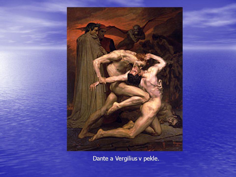 Dante a Vergilius v pekle.