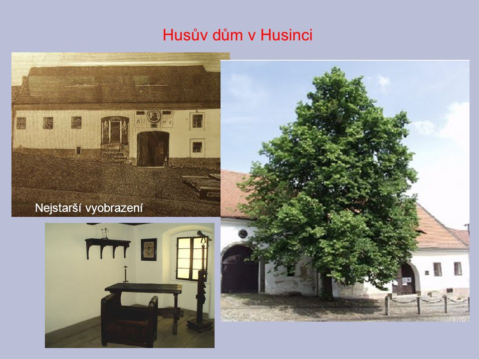 Husův dům v Husinci Nejstarší vyobrazení