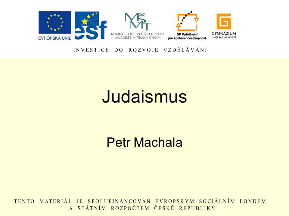 Judaismus Petr Machala