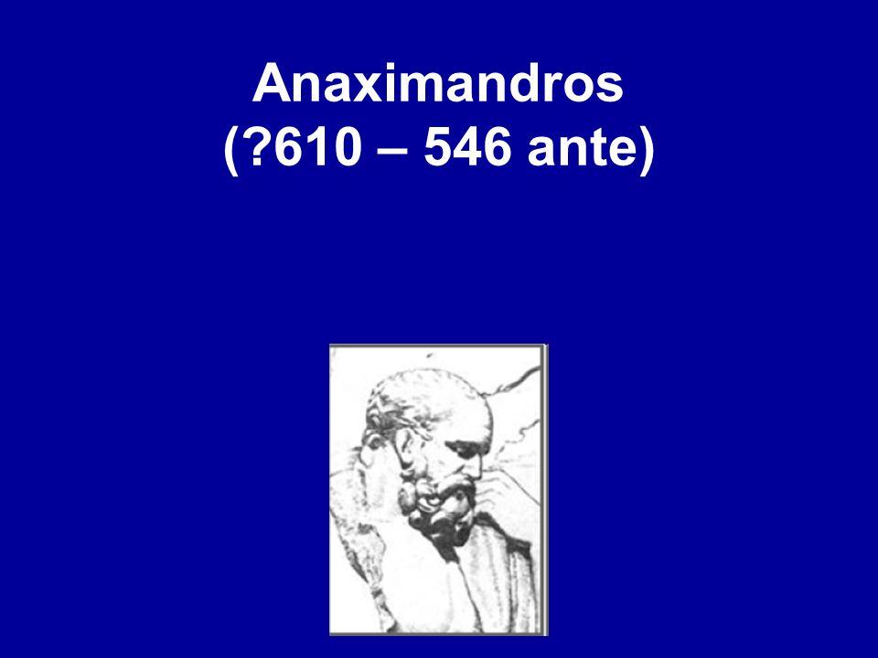 Anaximandros (?610 – 546 ante)