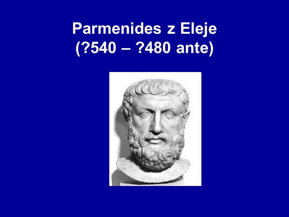 Parmenides z Eleje (?540 – ?480 ante)