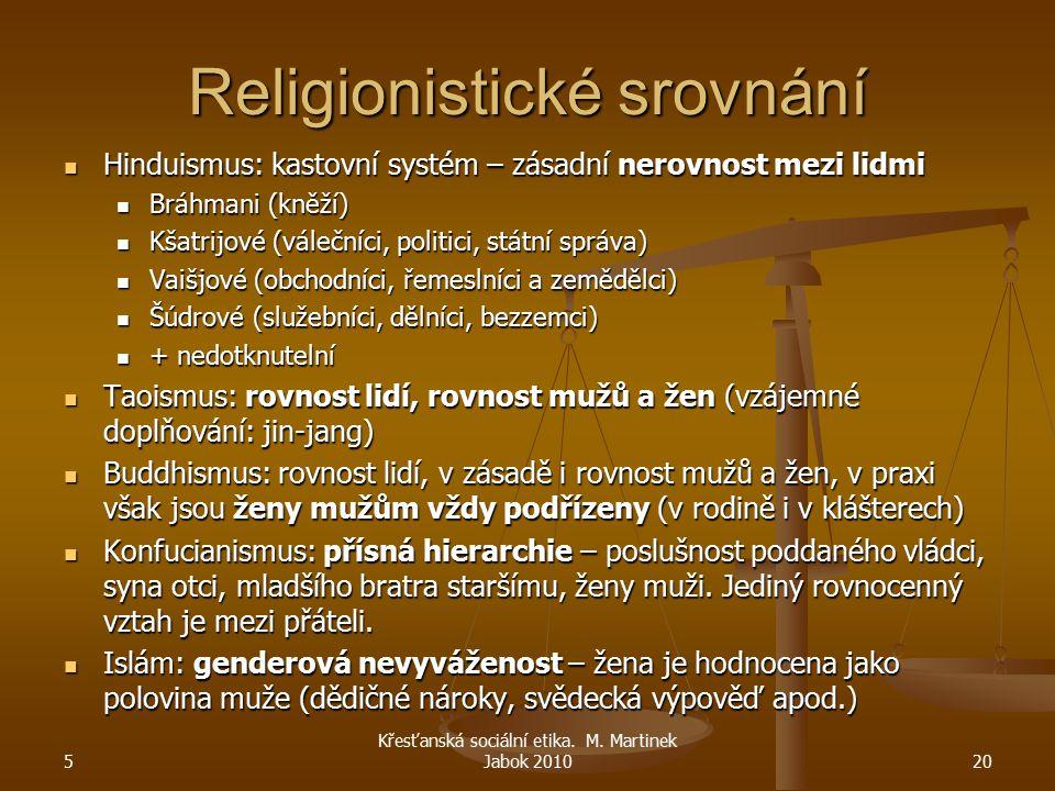 Religionistické srovnání Hinduismus: kastovní systém – zásadní nerovnost mezi lidmi Hinduismus: kastovní systém – zásadní nerovnost mezi lidmi Bráhman