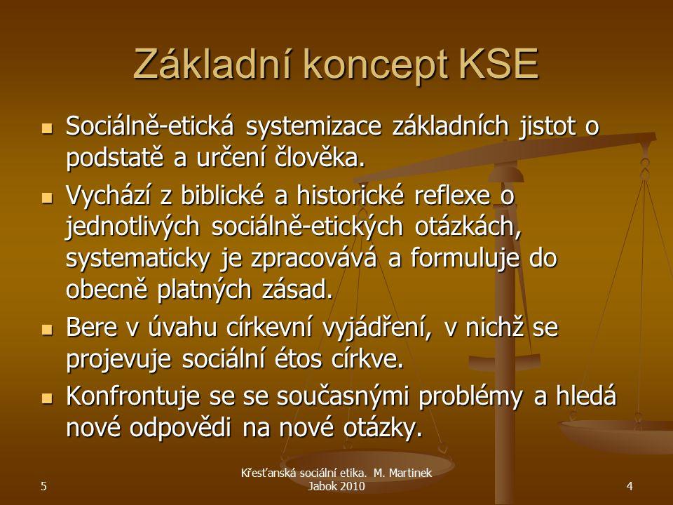 Základní koncept KSE Sociálně-etická systemizace základních jistot o podstatě a určení člověka. Sociálně-etická systemizace základních jistot o podsta