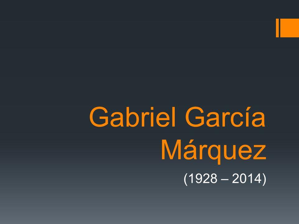 Gabriel García Márquez  Kolumbijský prozaik a novinář píšící španělsky  Představitel magického realismu, v pozdějších románech ovlivněn i postmodernismem http://commons.wikimedia.org/wiki/F ile:Gabriel_Garcia_Marquez.jpg