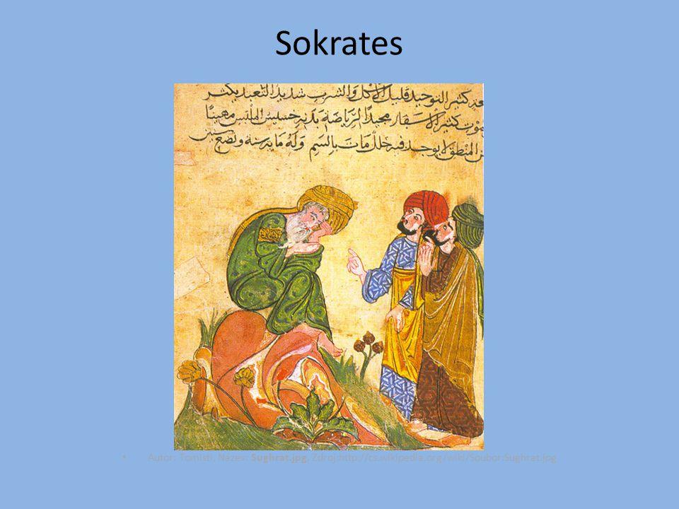 Sokrates Autor: Tomisti, Název: Sughrat.jpg, Zdroj:http://cs.wikipedia.org/wiki/Soubor:Sughrat.jpg