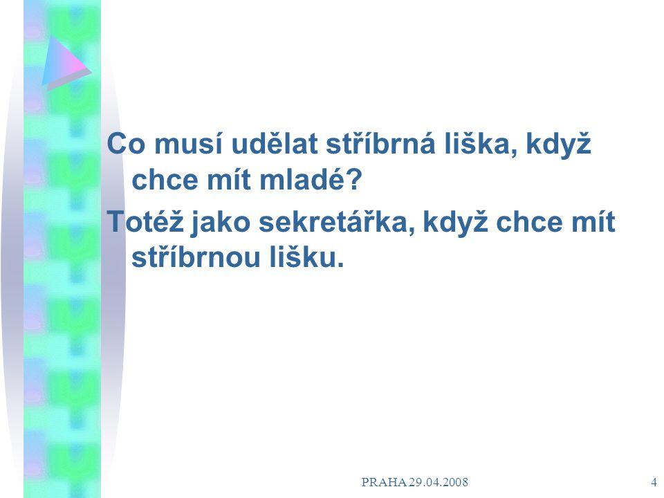 PRAHA 29.04.2008 3 Jeptiška se jde vyzpovídat.