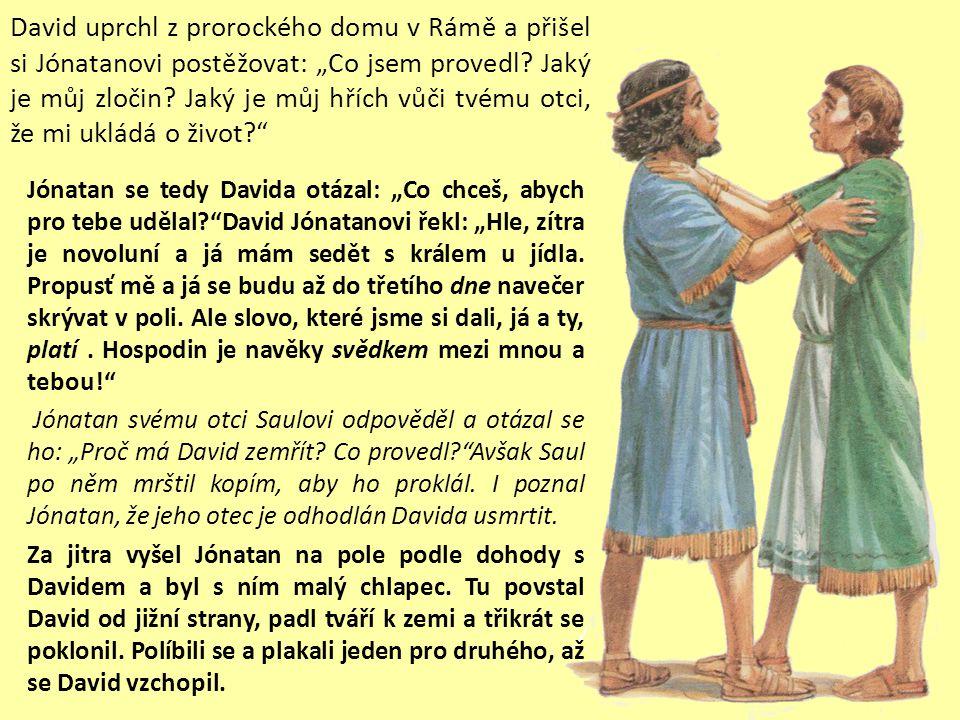 A Jónatan se za Davida u svého otce Saula přimlouval.