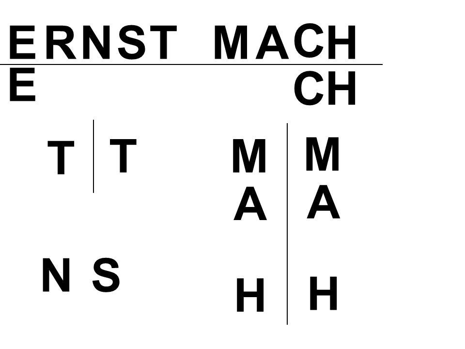 ERNS T MA C H M A H CH E T M A H T NS