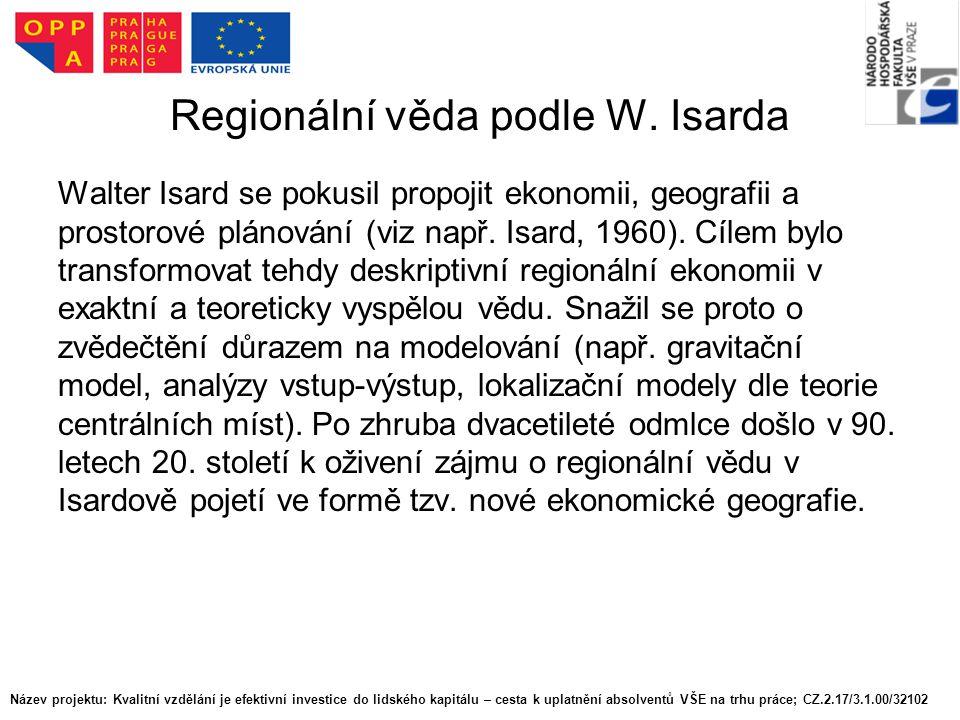 Regionální věda podle W.